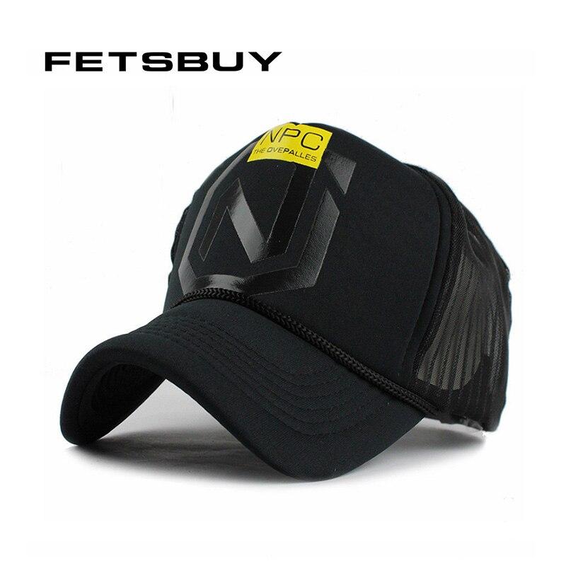 FETSBUY Summer Breathe Freely Mesh Baseball Cap Trucker Cap Fitted Men Casquette Hats For Women Bone Cap 2017 Wholesale