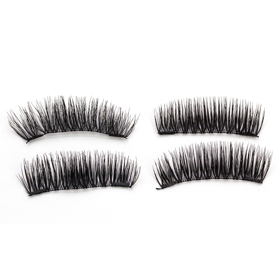 HaHaLash Magnetic Eyelashes 6D eype with two tiny magnets Natural curl Hand Made Factory Sell Eyelashes extention-HH-KS04-2