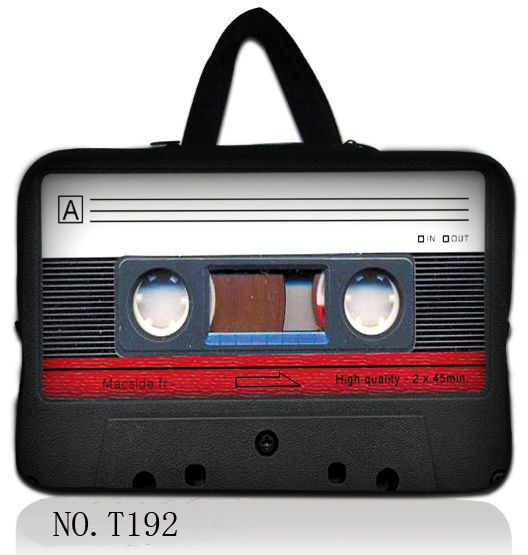 "Cassette tape 10""  Laptop Sleeve Bag Carry Case For Apple iPad 4 3 2 1/ 10.1"" Samsung Galaxy Tab"