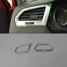 Car Accessories ABS Interior Front Side Air Vent Outlet Cover Trim For Volkswagen Tiguan L 2016 Styling