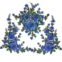 3D Patches Flowers Embroidered Sew On Patch For Clothing Jacket Applique DIY Accessory