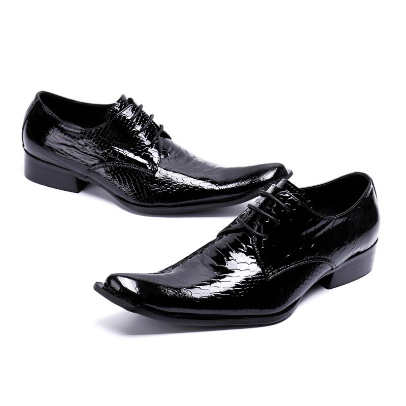 Zapatos De Charol Más Punta Sl444 Derby Cocodrilo Hombre Calzado Party Up Negro Lujo Hombres Pista Tamaño Wedding Rocker Lace Estrecha TTwUPB1n5q