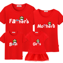 Family matching clothes 2017 Leisure new summer cotton T shirts boy for father mother son daughter