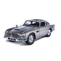 1:18 Масштаб модели автомобилей 2 4 года Джеймс Бонд 007 автомобиля Коллекционирование Aston Matin DB5 литые игрушечные машинки Конструкторы для пода