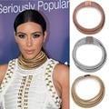 Botón del imán de la manera maxi gargantillas multicapa choker collar collar y colgante collar de la declaración mujeres al por mayor de kim kardashian