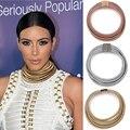 Maxi botão ímã multicamadas choker colar & pingente de gargantilhas moda kim kardashian gola declaração colar mulheres por atacado