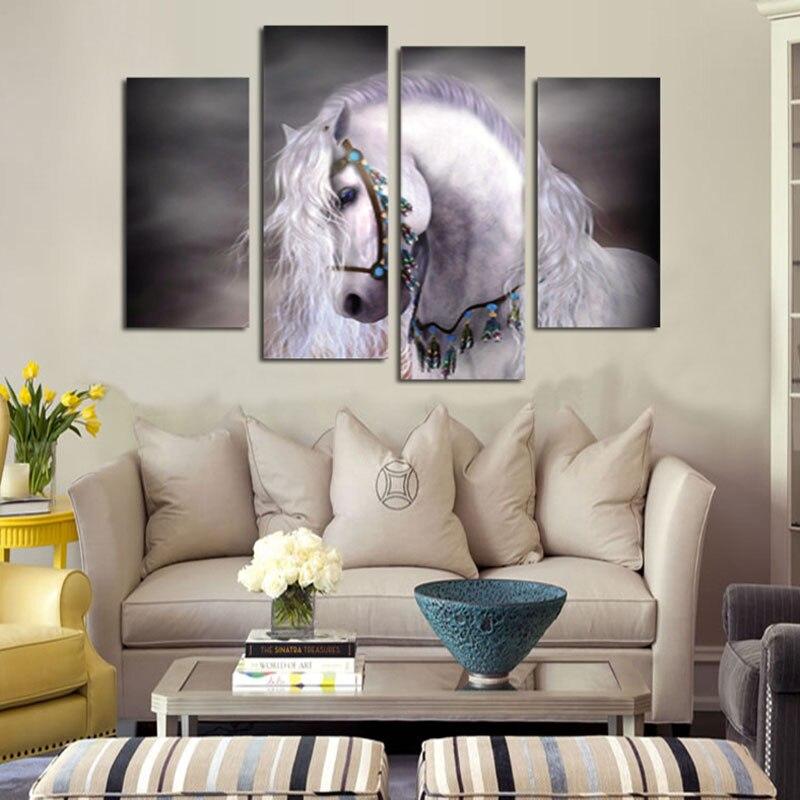 DIY 5D סוס לבן אמנות יהלום רקמה Pianting - אומנויות, מלאכת יד ותפירה