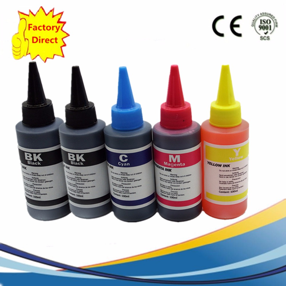 5 x 100ml PGI450 CLI451 CISS Refill Cartridge Dye Ink For Canon PIXMA MG5440 IP7240 MX924 MG5540 MG5640 MG6640 Inkjet Printer