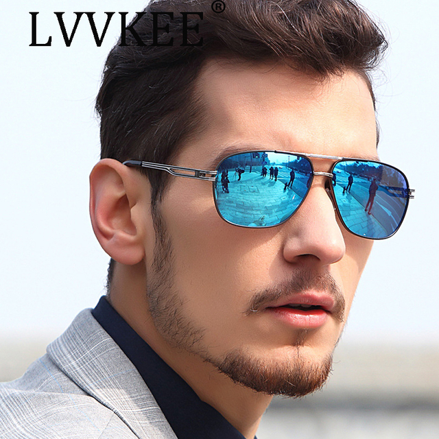 a5d5eeaf873 NEW Luxury Brand Fashion Polarized sunglasses Large frame Driving Goggles  men Driving car male sun glasses blue UV400