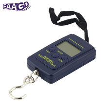 EAAGD 40kg/88lb Mini Portable Digital Fishing Scale LCD Display Weighting Electronic Hook Travel Luggage Scale