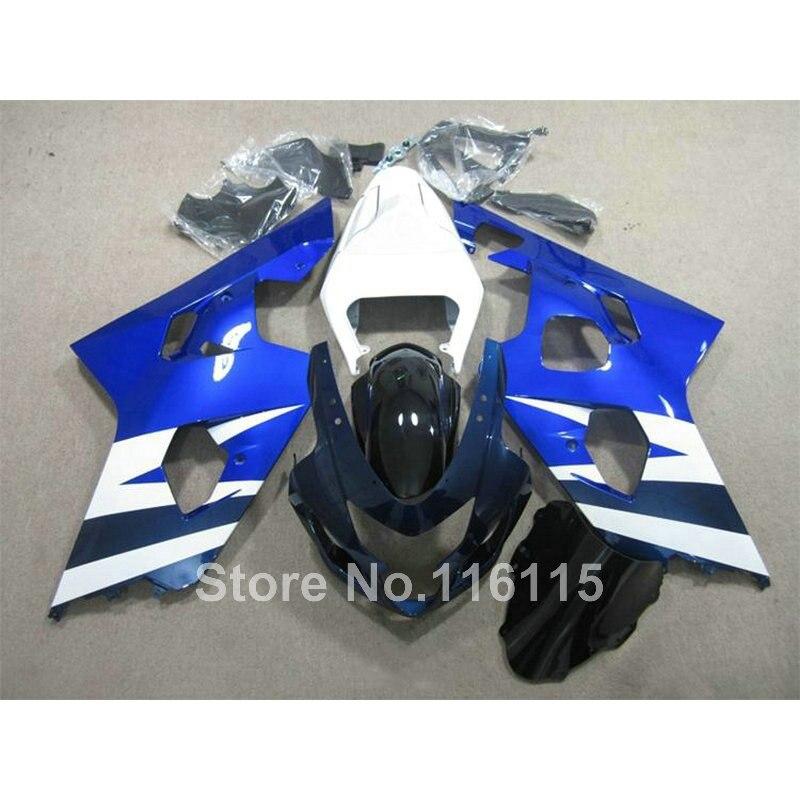 Top quality fairing kit for SUZUKI GSX-R600 750 K4 2004 2005 fairings GSXR600 GSXR750 04 05 black white blue   Q739
