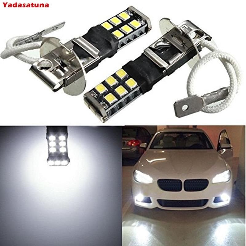 2pcs H3 64146BC 64156 62201 15w Canbus Haute Puissance Brouillard LED DRL Lampe Ampoule LumiEre Blanc(H1 Available)