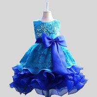 Lush Formal Prom Party Ball Gown Little Bridesmaid Wedding Children Tutu Dress Girl Baby Kids Girls