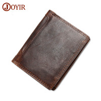 JOYIR Wallet Man 2017 Leather Genuine Crazy Horse Leather Trifold Wallets Clutch Men S Purse Coin