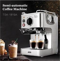 Semi-automatic Coffee Maker Espresso Coffee Maker Household Italian Coffee Machine Cafetera TSK-1819A