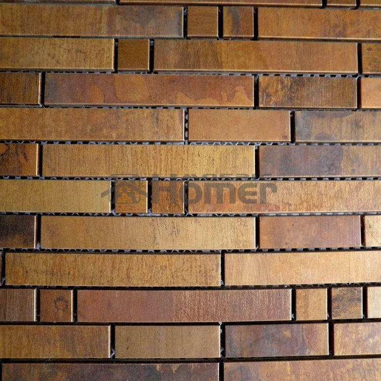 Free Shipping Bronze Mosaic Tiles Wall Covering Metal Mosaic Tiles Brass Bathroom Hallway Tiles In