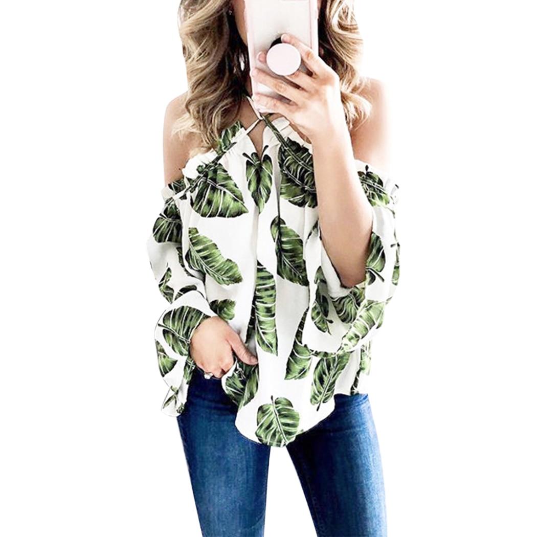 Aliexpress.com : Buy Long Sleeve Sexy Halter Tops Shirt ...