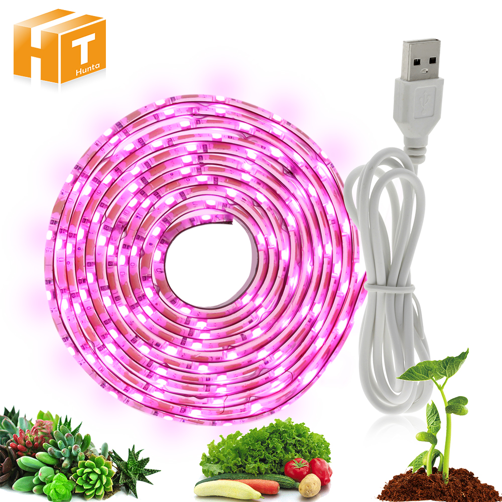Grow Light USB LED Strip 0.5m 1m 2m Full Spectrum 2835 Growing Chip 5V USB Power Supply LED Grow Lamp.