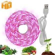 Grow Light USB LED Strip 0.5m 1m 2m Full Spectrum 2835 Growing Chip 5V Power Supply Lamp.