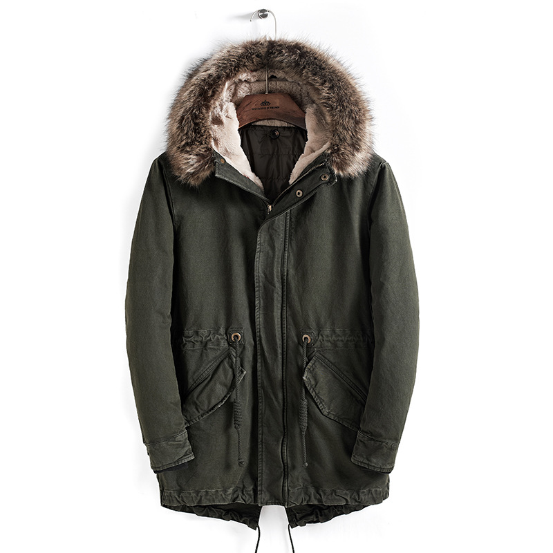 Casual Men   Parka   Coat 2018 Men's Warm England Style Padded Jacket With Hooded Winter Coats