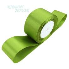 (25 ярдов/рулон) 2 »(50 мм) фрукты зеленый одно лицо атласной лентой лямки украшения подарок Рождество лентами