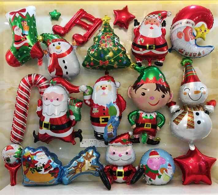 ميلاد سعيد عيد الميلاد شجرة سانتا كلوز ثلج جرس الأيائل زلاجات جورب قصب احباط بالونات عيد الميلاد حزب الوطن الديكور نفخ بالون طفل