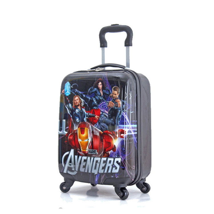 18'' Large Capacity Avengers Rolling Luggage/Boys Iron Man ABS ...