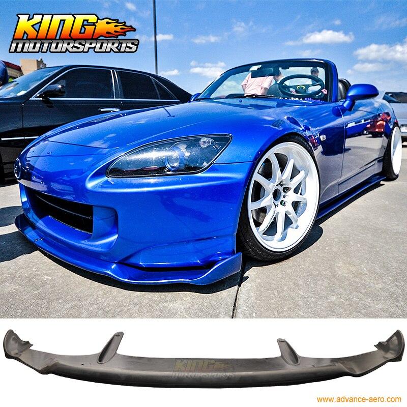 FOR 2004-2009 Honda S2000 S2K AP2 MU Style Front Lip Bumper Splitter for 2009 2012 09 10 11 12 nissan fairlady z 370z sl style front bumper lip
