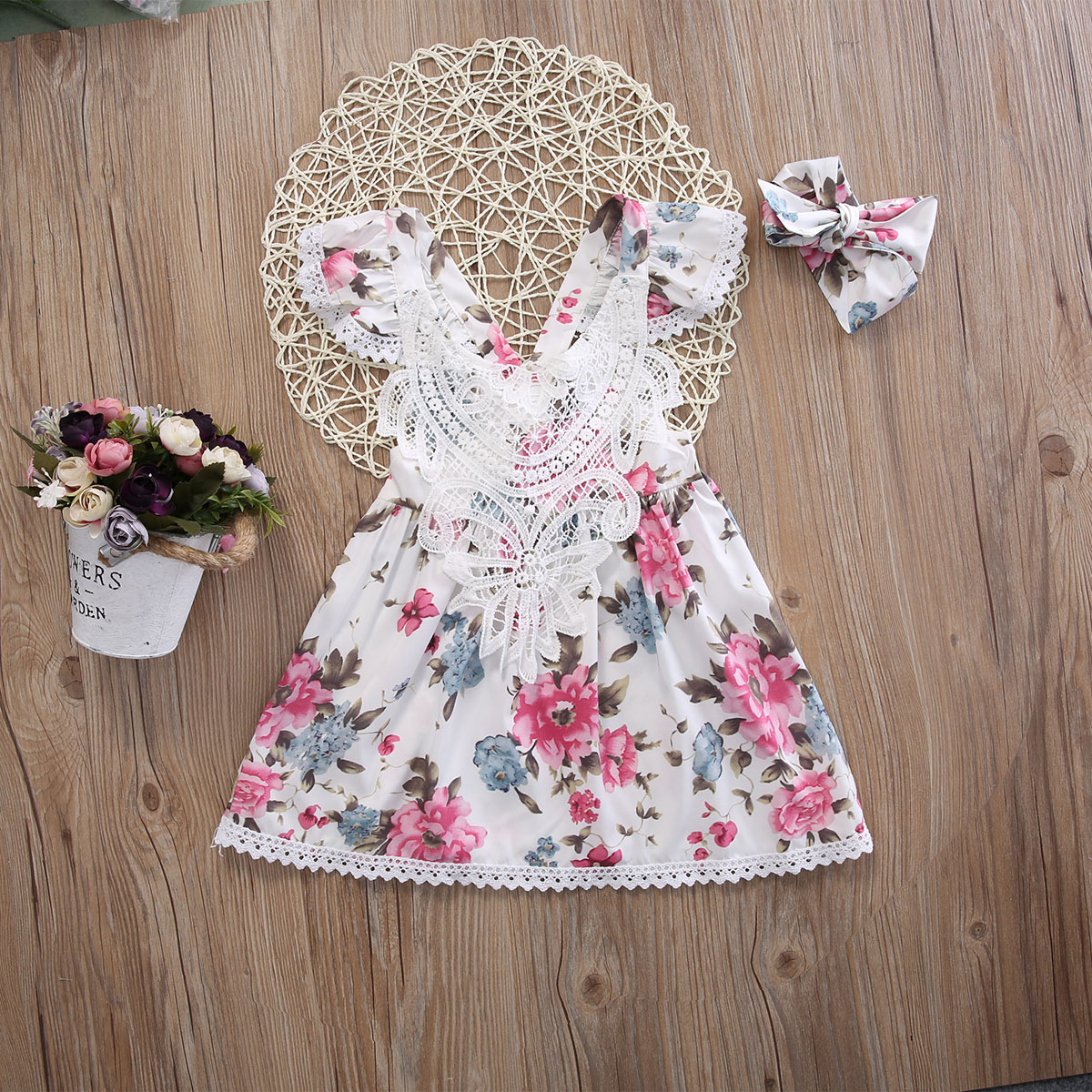3colors Summer Toddler Kids Baby Girl Flower Floral Dress Princess Lace Dresses Clothes3colors Summer Toddler Kids Baby Girl Flower Floral Dress Princess Lace Dresses Clothes
