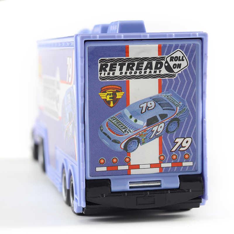 Cars Disney Pixar Cars MACK Paman No 79 Retread Pembalap Truk Diecast Mobil Mainan 1:55 Longgar Baru Di saham & Gratis Pengiriman