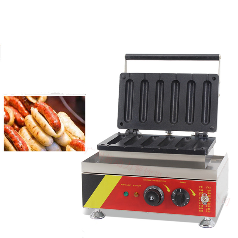 110/220V Commercial Electric Sausage Roasting Machine Hot Dog Roasting Machine 6pcs Taiwanese Sausage With Sticky Rice Machine free shipping sausage machine taiwan hot dog machine roast sausage machine dedicated accessories motor gear