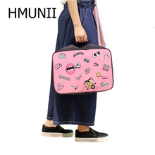 HMUNII Fashion Creative Packing Cube Suitcase Women's Travel Bags Hand