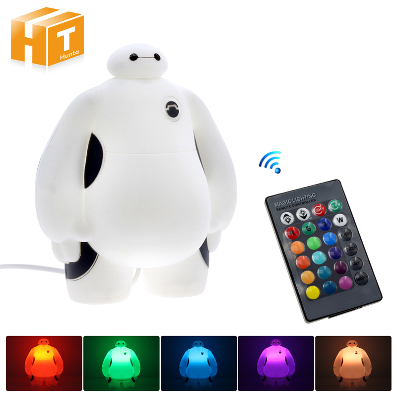 Big Hero 6 LED Night Light BayMax Lamps AC220V RGB/ Warm White Kids Gift Bedroom Home Decorations Novelty Lighting