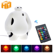 Big Hero 6 LED Night Light BayMax Lamps AC220V RGB/ Warm Whi