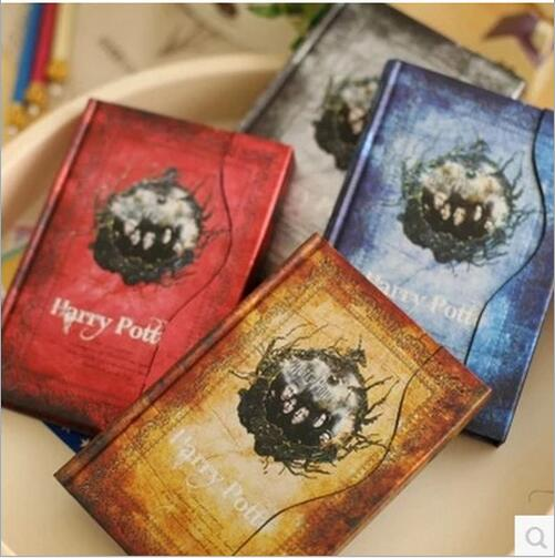 Jingu Valley Harry Potter Magnetic Notebook Retro Plan This travel schedule this color page hard copy notebook 6605