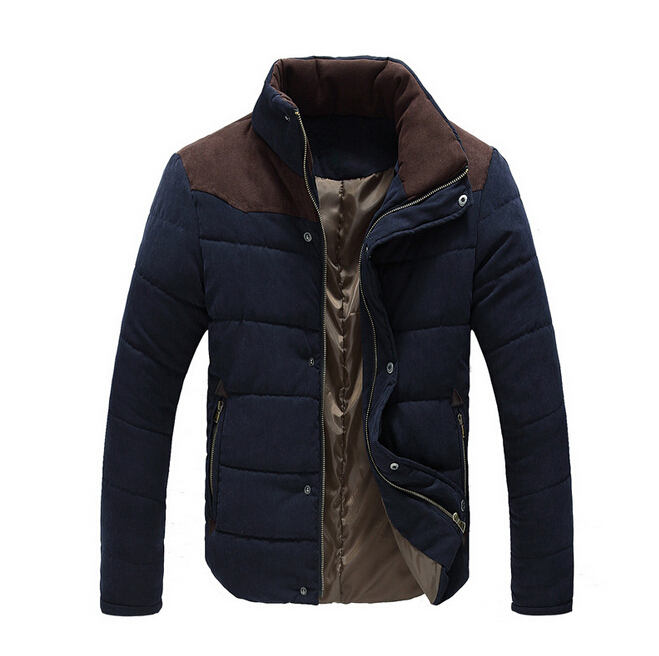 ФОТО 2017 New!  Autumn/Winter Men's Jacket Casual Style Slim Fit  Man Coat fashion style Warm Stand collar jaket for men 3 Colors