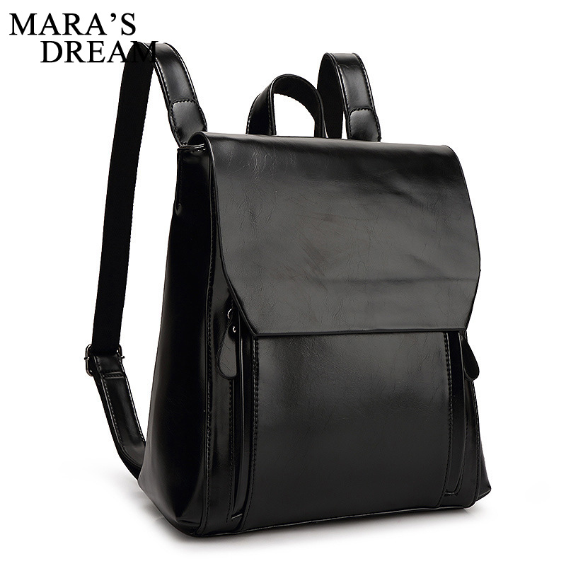 Mara s Dream Backpack New Arrival Fashion PU Leather Solid Color Solid Big Capacity Women Shoulder