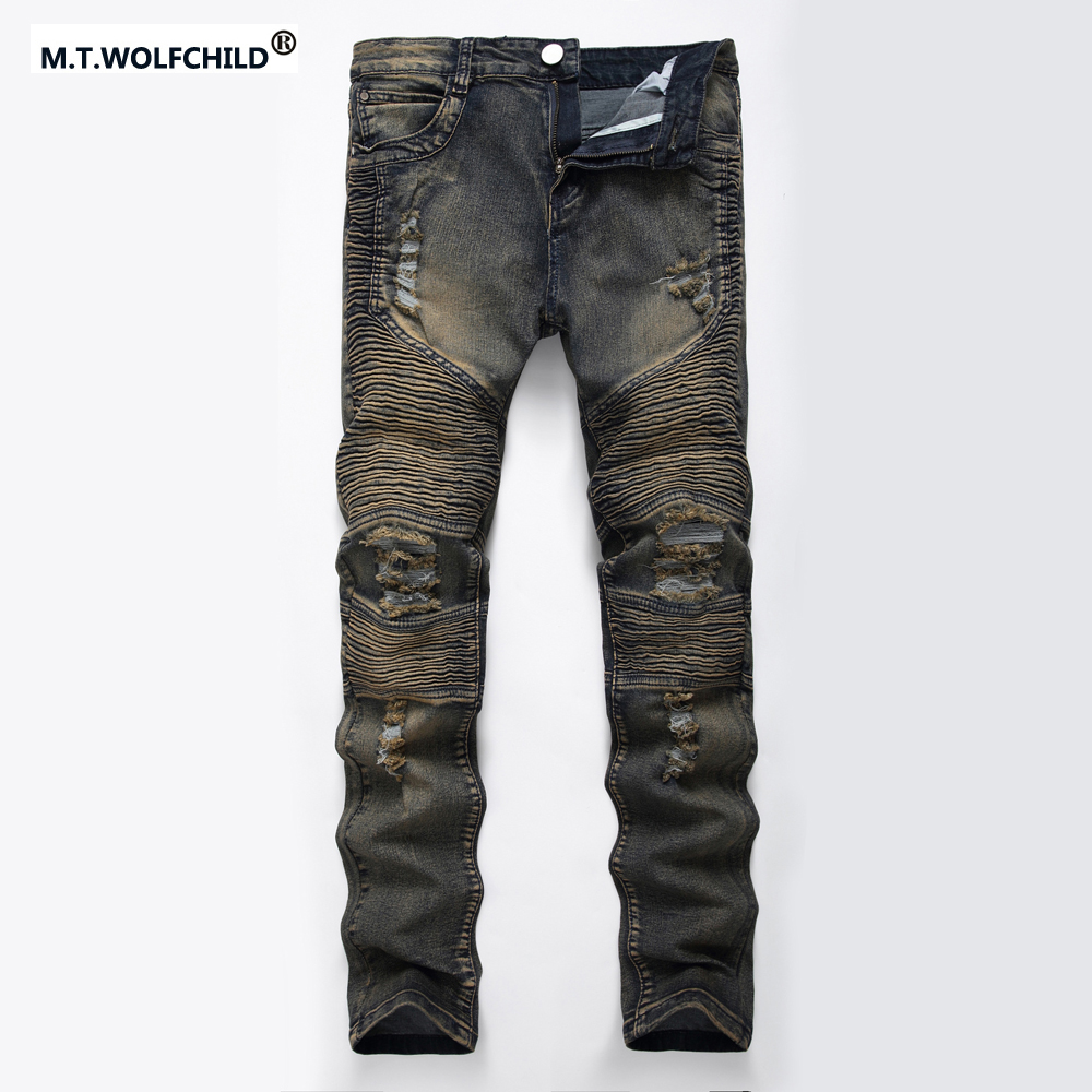 New style Europe and the United States brand Men's Slim Straight Hip Hop Jeans Casual mens hole jeans fashion denim trousers best battery brand 4570100 m70 vx545hd song the united states 3600mah battery electroplax 3 7v