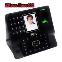 ZKTeco iFace102 البيومترية وقت الحضور الوجه قارئ الوجه بصمة البيومترية الحضور الوقت على مدار الساعة الوجه