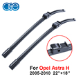 22''+18'' Window Windshield Wiper Arm Blade Kit For Vauxhall Opel Astra H 2005-2010 Natural Rubber Windscreen