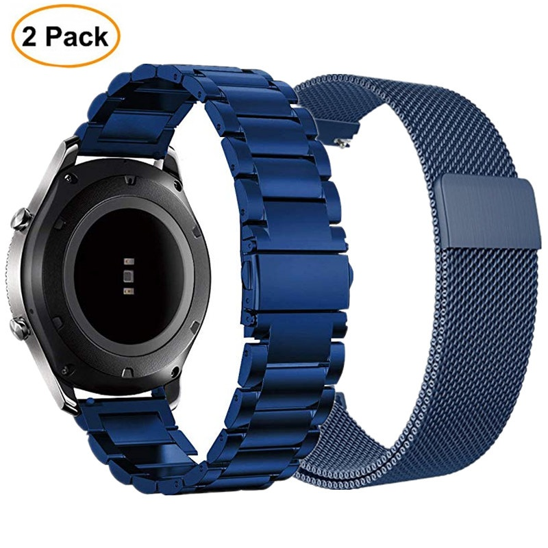 22mm Stainless Steel Strap For Samsung Gear S3 Classic Frontier Bands galaxy watch 46mm Milanese Loop Band For Huawei Watch GT
