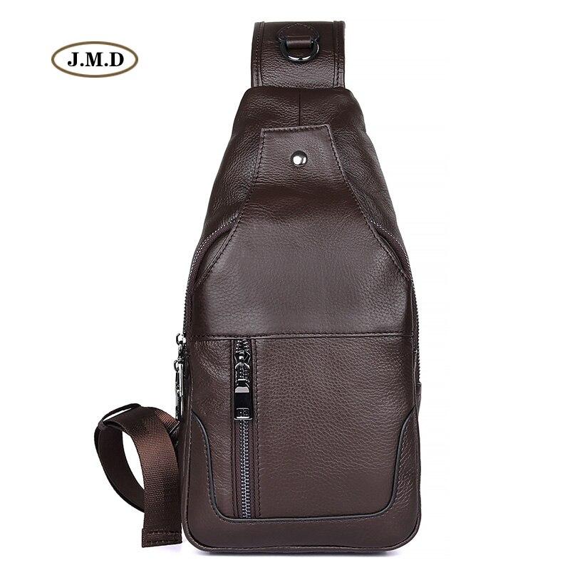 J.M.D New Arrivals Excellent Genuine Leather Brown Color Causal Style Men's Fashion Style Chest Bag Shoulder Bag 4004C fashion style