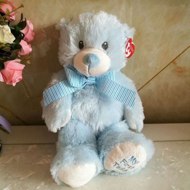 Sweet baby blue teddy bear ty pluffies my first teddy bear 30cm Plush Toys  Stuffed animals KIDS TOYS Children toy home decor 3d061767252