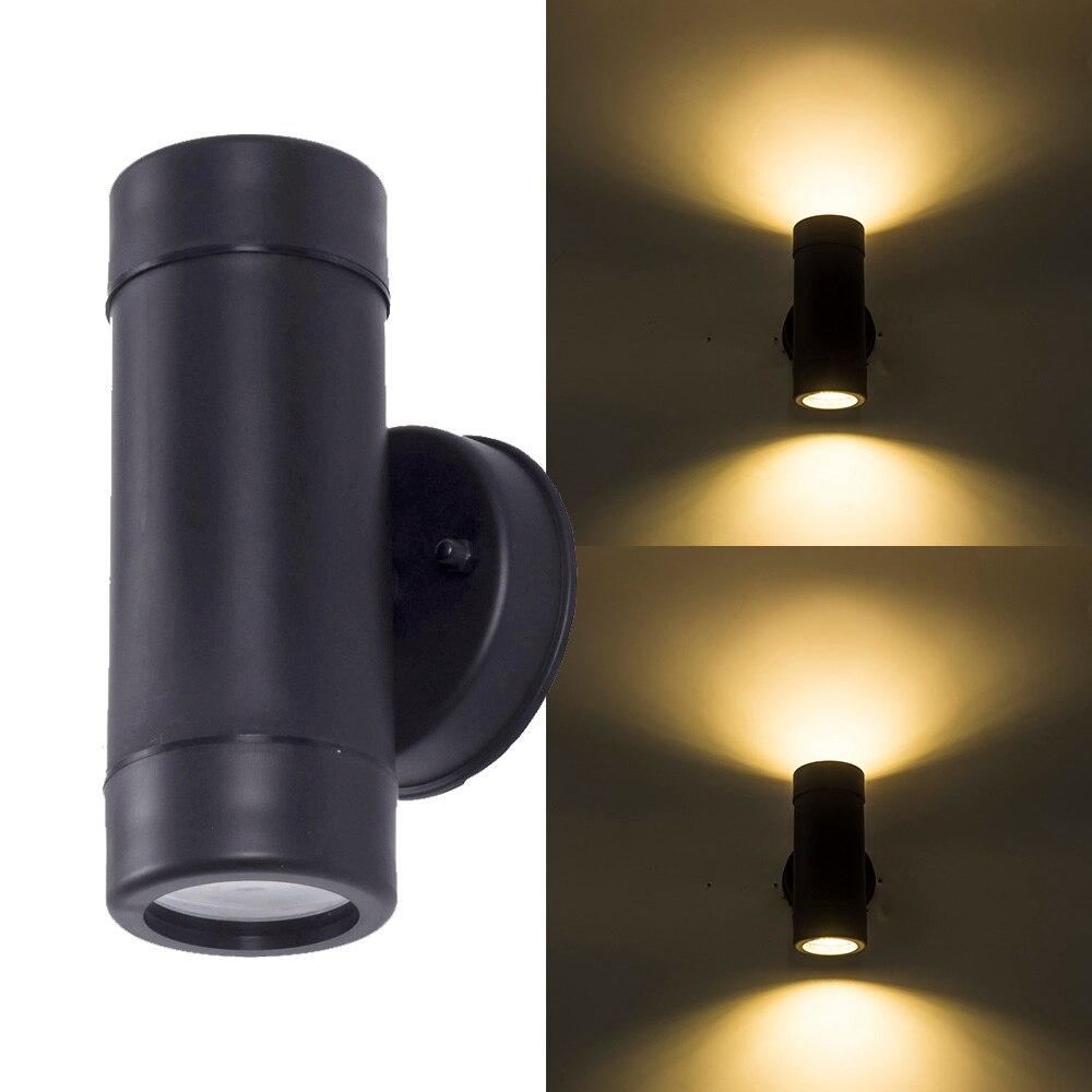 الحديثة حتى أسفل LED الجدار في الهواء الطلق ضوء مقاوم للماء IP65 الجدار مصباح التيار المتناوب 85-265 فولت الشرفة الإضاءة في الهواء الطلق