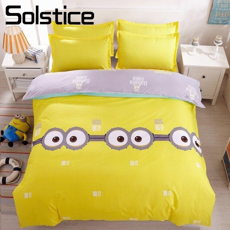 Solstice Home Textile Banana Kids Childs Bedding Sets Boys Teens Bedlinen King Twin Size Bed Sheet Duvet Cover Pillowcase 3/4Pcs