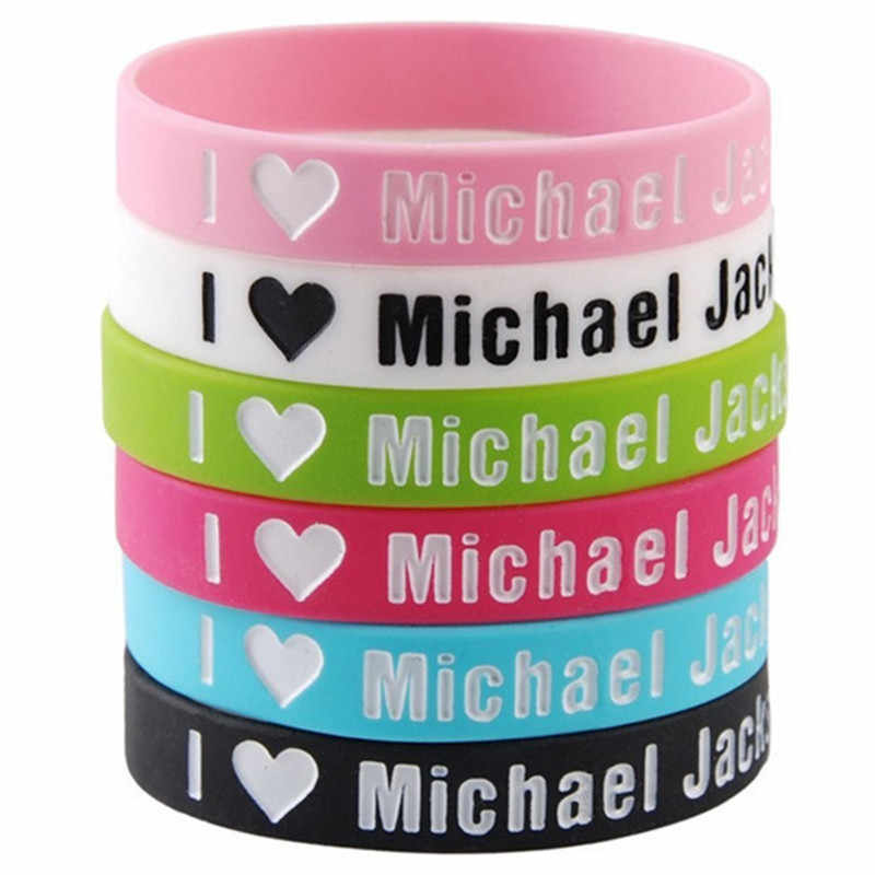 1 pc Michael Jackson Fascia di sport della gomma di silicone wristband del braccialetto