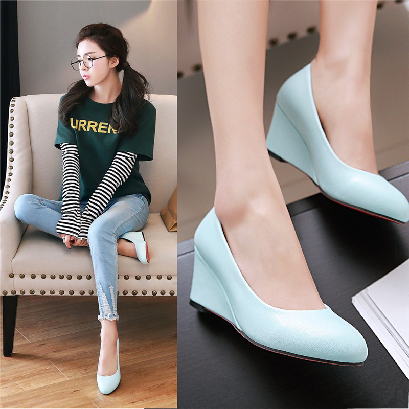 Fashion Women's Wedges Heel Stiletto Shoes