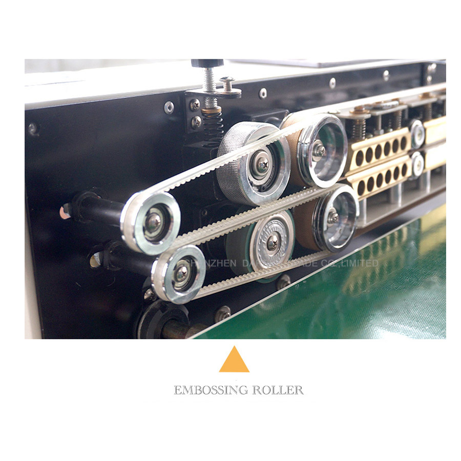 Film Sealing Machine Heat Plastic Bag Package Machine Band Sealer Horizontal Heating Packing Machine Temperature Control FR-770
