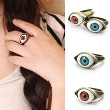 1 шт Хэллоуин винтажное панк бронзовое кольцо сглаза глазное кольцо на палец
