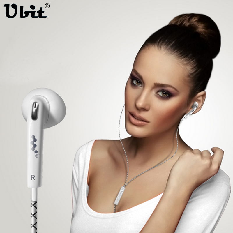 Ubit In-Ear Stereo Earphones With Microphone 1.2M  Length 3.5mm Jack Sports Music Earphones S7 For Smart Phone /Computer MP3MP4